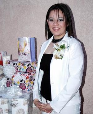 Ana Lilia Treviño Ortiz, captada en su fiesta de despedida de soltera.
