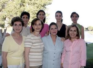 <b>09 de abril</b><p> Lucy Murra, Chayo Tueme, Tensi Murra de Díaz, Patricia Pérez, Kiki Murra de Monilla, Alicia Murra y Cristina Rodríguez.