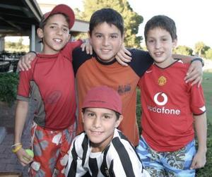 Fernando Royo, Jorge Carlos, Arsenio González y Gerardo Barraza.