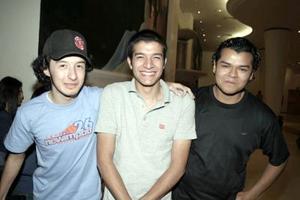 Carlos Sánchez, Rubén Martínez y Alfredo Pérez.