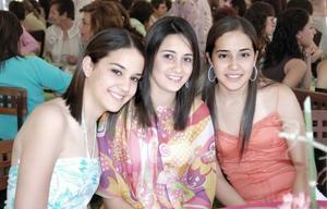 Daniela Díaz de León, Claudia Rebollo y Mariana Díaz de León.