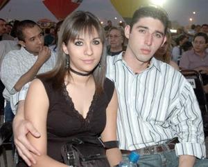 <b>12 de abril </b><p> Susana Villanueva y Sergio Félix.