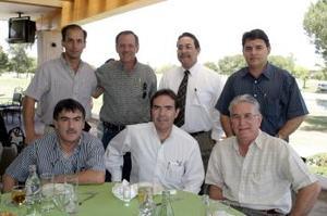 Alejadro Diez, Fernando Humphrey, Armando Navarro, Alberto Martínez, Jaime Murra, Fernando Marroquín y Jorge Cepeda.