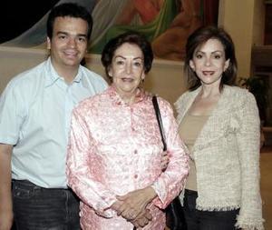 Francisco Mijares, Teresa Pámanes y Susana Quintero.