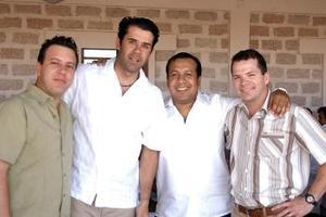Javier Iriarte, Fernando Bustos, Jesús Navarro y Fernando Jalife.