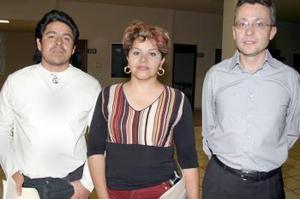 Juan Gerardo Pacheco, Gloria Medina y Guiilles Guey