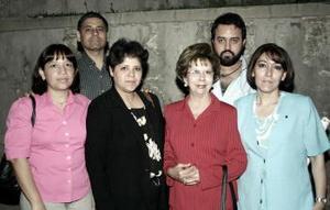 María de Lourdes Herrera, Rosa María Briones, Aurora Máynez, Ivonne Rivera, Jospe Máynez y Rubén Cháirez
