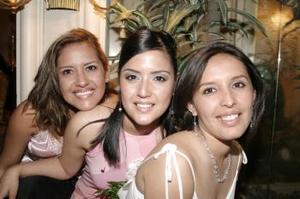 -Marcela Ayala Alanís el día de su primera despedida de soltera.