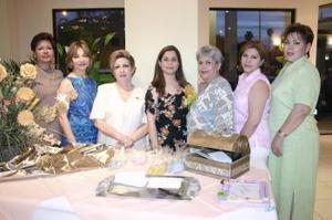 Lilia Rosa de Ortiz, María Faudoa Herrera, Patty de Faudoa, Sara de Faudoa, Ofelia de Faudoa y Selene de Duarte.