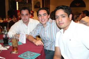 <b>14 de abril </b><p> Roberto Madero, David Obeso y Mabuel Falconí