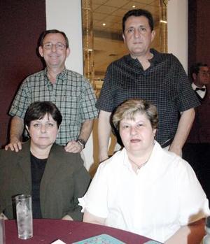 José Villarreal Zambrano, Elena Cepeda de Villarreal, Germán González y Ana Luisa Cepeda.