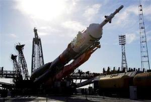 El lanzamiento se produjo a las 00:47 GMT con ayuda de un cohete portador Soyuz-FG, que despegó desde el cosmódromo de Baikonur, localizado en la república de Kazajistán, en Asia Central.