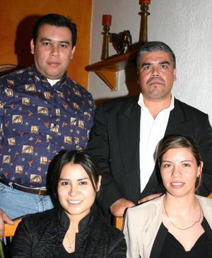 Héctor Meza, Roberto Carillo, Teresa Jaén y Cirene Lozada