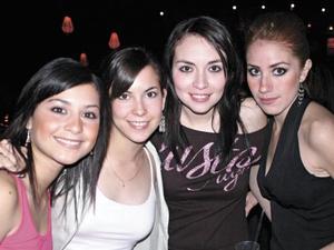 Laura Juárez, Margarita Monarrez, Sofía Garza y Mariana Portal