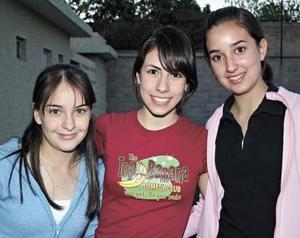 Daniela Alanis, Magaly Berumen y Valeria Rivera