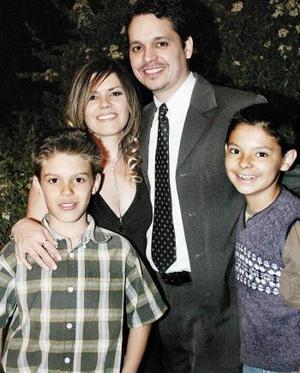 Heriberto Montoya, Silvia Padilla, Ricardo Martínez y Kassem Braham.
