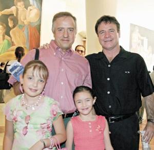 Oscar Gutiérrez del Bosque, Estefany Gutiérrez Izquierdo, Mario Rivero y Pamela Rivero García