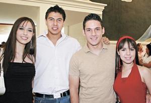 María Quintanar, Javier Hermosín, Eduardo Herrán y Martha Bitar