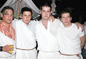 Jorge Fernández, Nico Papadópulos, Juan Sauza y Blas Garza