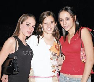 Isabel Murra, Marcela González y Sofía Escalante