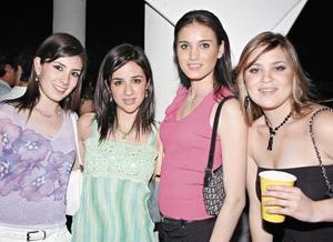 Mariana Jiménez, Dora Martínez, Valeria Bracho y Adriana Suárez