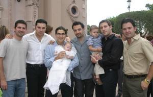 Beto Ruiz, Adán Herrera, Iván Garza Tijerina con su hijo Pablo, Alejandro Tavera, Iván Garza Tijerina Sánchez, Pedro Valdés y Mauricio Albéniz.