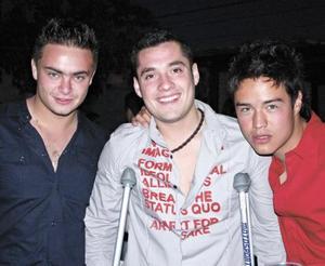 Chino Ríos, Maurice Collier y Chobis González