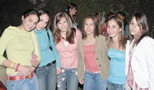 Daniela D., Sofía Llama, Astrid Allegre, Daniela G., Cristina L. y Sofía H.