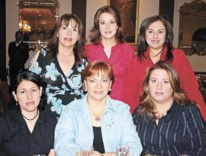 Laura Pereyra, Norma de González, Lela Silveyra, Elvia de Rivera, Karla de Lozano y María Luisa de Jalife