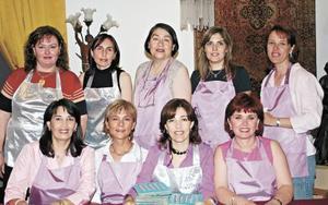 Leticia Von Bertrab, Eréndira de Hernández, Marissa de Estrella, Mirita de Garza, Amelia de González, Claudia Reed de Rebollo, Claudia de Valdéz, Yolanda de Murra y Estelita de Obeso