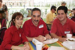 Tilela Rocha de Ruiz, Hernán Rocha Uribe y Gabriel Ruiz Rocha.