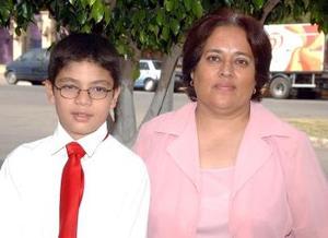 Héctor Gerardo Aranda, alumno de la maestra María del Socorro Rangel.