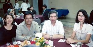 Miroslava Sánchez Galván, César Cisneros Victoriano, Armando Aguirre Díaz y Myrna Isabel Sáenz Flores.