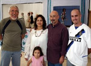 Salvador Salas, Carla Coto, Juan Carlos Martínez y Diego de la Peña.