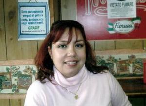 Ana Laura Ibañez de Juárez en Roma, Italia .