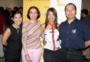 Sofía Camil, patricia Martínez, Oleida Montaño y Flavio Becerra.