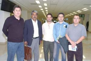 Juan Manuel Candelas, José Antonio Flores, José Antonio Herrera, José Olivares y Miguel Rodríguez viajaron a Toluca