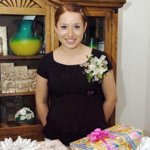 Dora Luz Rentería Páez el día de su fiesta de canastilla.