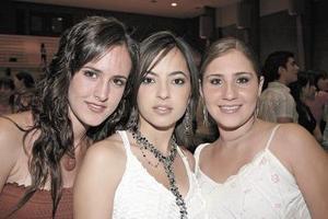 Lucía Sánchez, María del Pilar González y Piscila Zambrano.