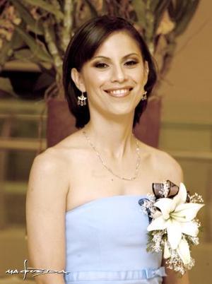 Gabriela Aguirre Rodríguez ern su despedida de soltera.