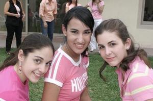 María José Calvete, Myriam Díaz de León y Luisa Chaman.
