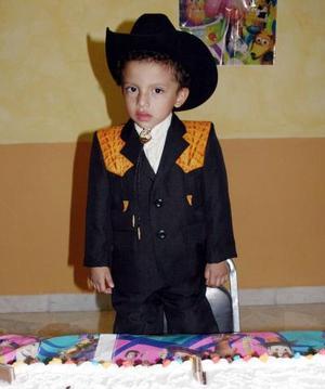 -El pequeño Héctor Javier Ramírez Reyes, en su fiesta de cumpleaños.