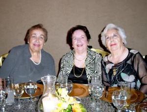 Ema, Bertha y Dora de la Fuente.