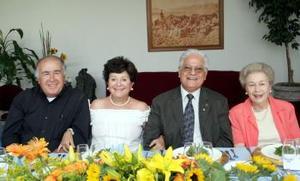 Fidencio Treviño, Adela  Celorio, Pedro Rivas, y Pilar Díaz Rivera.