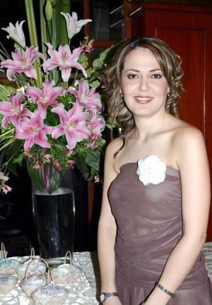 Liliana Vilanova Ponce en su despedida de soltera.