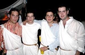 Jorge Fernández, Nico Papadópulos, Blas Garza y Juan Sauza