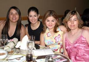 Cristina Gutiérrez, Amy de Mejía, Jéssica Adame y Verónica Sánchez