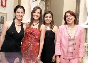 Las creadoras de la firma BOATTO, María Madero, Paulina Delgado, Isabel Herrera y Matilde Campa