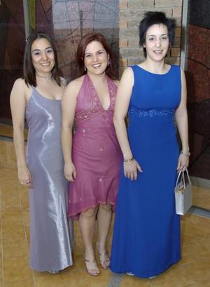 Carmen Díaz, Mariana González y Gabriela Ramírez