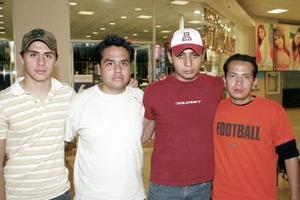 Miguel Gómez, Eduardo Ibarra, Carlos Jardón y Eduardo Meraz